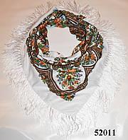 Павлопосадский шерстяной платок (52011)