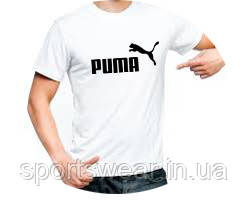 Белая футболка Пума