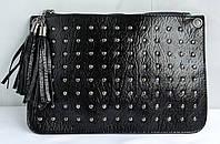 Женский клатч - кроссбоди, цвет черный.