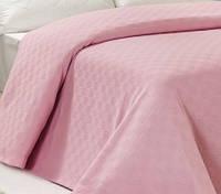 Покрывало пике 200х240 Arya Dama хлопковое розовое