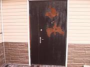 Перекраска металлической двери