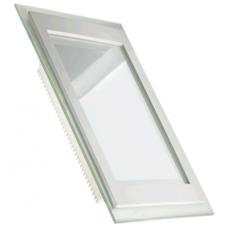 Светильник светодиодный 12W (3000K) квадратный со стеклом Glass Rim