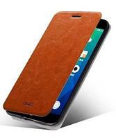 Чехол-книжка Mofi для телефона Meizu M1 Note коричневый brown