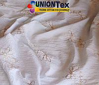 Рубашечная ткань плиссированная (цветы+блестки)