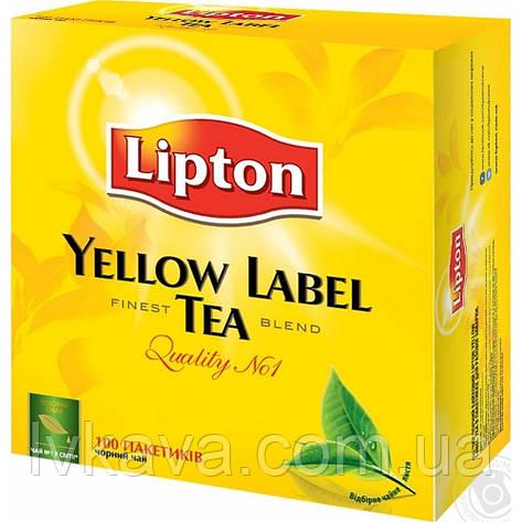 Чай черный Lipton Yellow Label   , 100 пак, фото 2