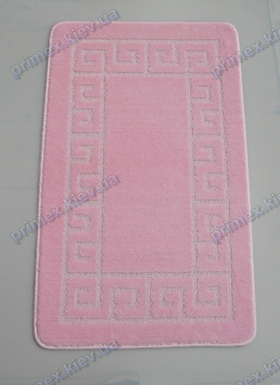 Набор ковриков для ванной, 60х100 + 60х50см. Версаче розовый