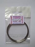 Проволока с памятью цвет серебро, диаметр кольца 60 мм, диаметр стержня проволоки 0,8 мм