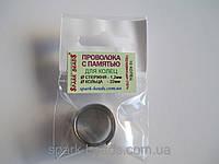 Проволока с памятью цвет серебро, диаметр кольца 22 мм, диаметр стержня проволоки 1,2 мм