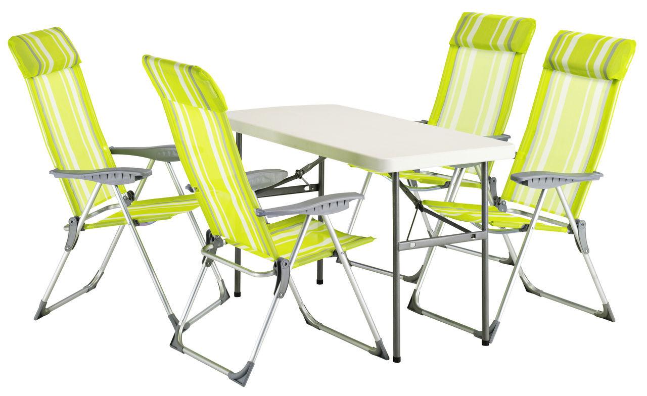 Стол раскладной для природы NESSK белого цвета