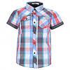 Легкая рубашка в клеточку Glo-story для мальчика; 98 размер