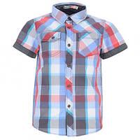 Легкая рубашка в клеточку Glo-story для мальчика; 98 размер, фото 1
