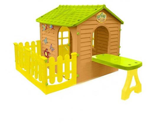 Большой садовый домик Mochtoys + столик + тераса, фото 2