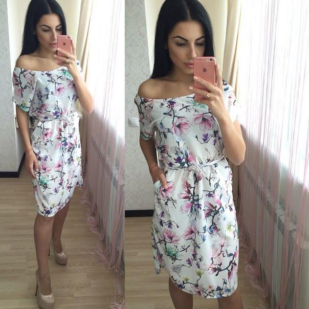 Шелковое платье с