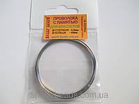 Проволока с памятью цвет серебро, диаметр кольца 48 мм, диаметр стержня проволоки 0,6 мм