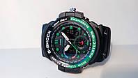 Часы Casio G-Shock GN-1000 GulfMaster (LUX копия чер/зел)
