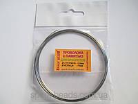 Проволока с памятью цвет серебро, диаметр кольца 76 мм, диаметр стержня проволоки 0,6 мм