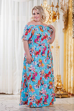 Д298 10  Платье штапельное размеры 48-56 расцветках, фото 2