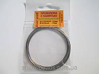 Проволока с памятью цвет серебро, диаметр кольца 53 мм, диаметр стержня проволоки 0,6 мм