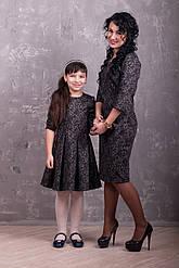 """Комплект платьев для мамы и дочери  """"Шоколадное наслаждение"""""""