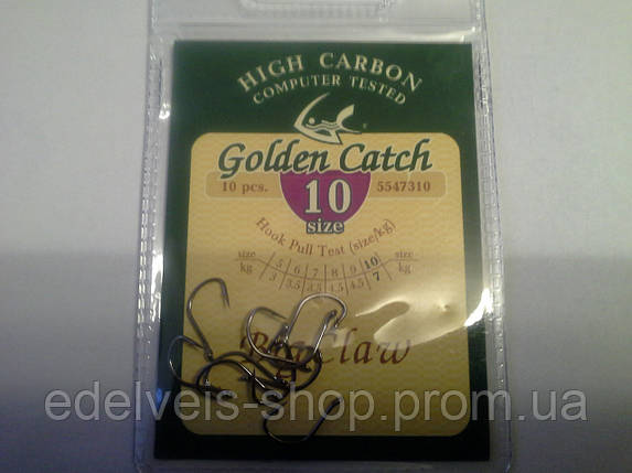 Крючки рыболовные Golden Catch BIG CLAW 10, фото 2