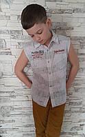 Рубашка без рукавов для мальчиков Оливка