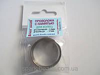 Проволока с памятью цвет серебро, диаметр кольца 31 мм, диаметр стержня проволоки 1 мм