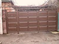 Ворота филёнчатые из цельно листовой филёнки