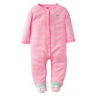 Человечек хлопковый Carters розовый Клубничка, Размер 6м, Размер 6м