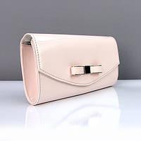 Светло-розовая сумочка-клатч Rose Heart лаковая