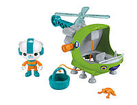 "Капитан Барнаклс и его спасательный вертолёт ""Октонавты"" Fisher-Price Octonauts Vehicle - Gup-H With Barnacles, фото 1"