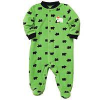 Флисовый человечек Carters зеленый Мишки, Размер 3м, Размер 3м
