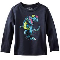 Регланчик OshKosh черный Динозавр