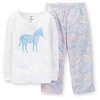 Пижама флис хлопок Carters Осленок, Размер 2T, Размер 2T