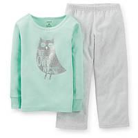 Пижама флис хлопок Carters Сова, Размер 4T, Размер 4T