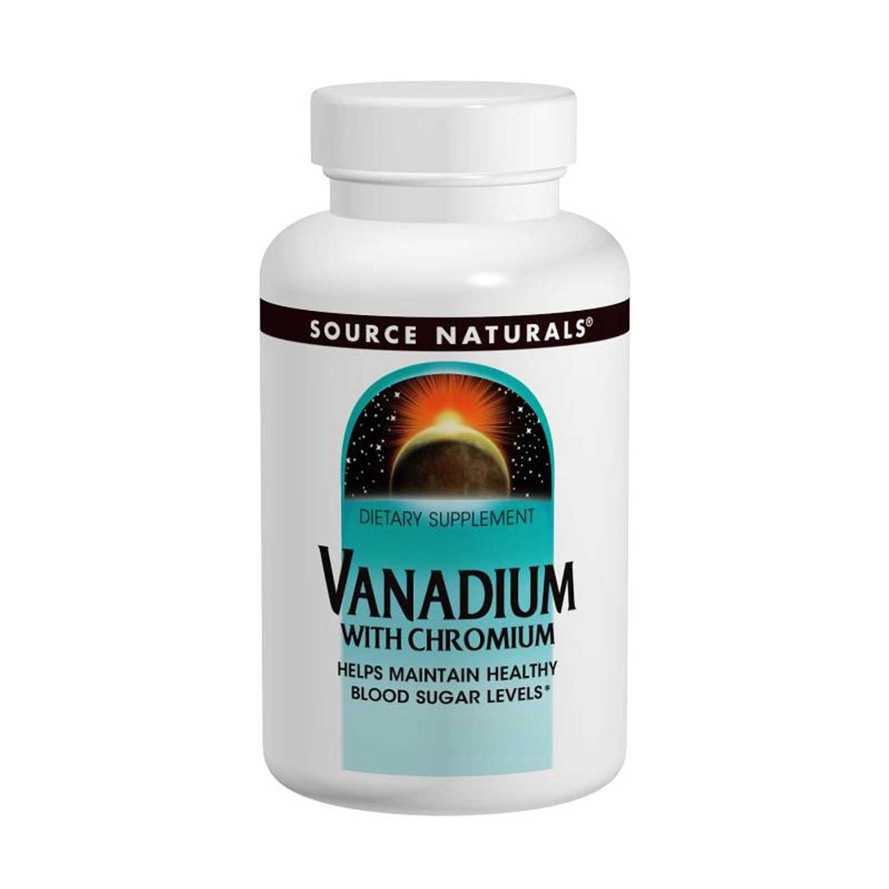 Ванадий с хромом, Source Naturals, 90 таблеток