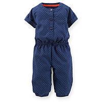 Человечек хлопковый Carters синий горошек для новорожденной, Размер 3м, Размер 3м