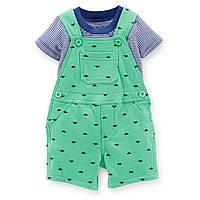 Комплект Carters комбинезон шортики и футболка Динозаврики, Размер 9м, Размер 9м