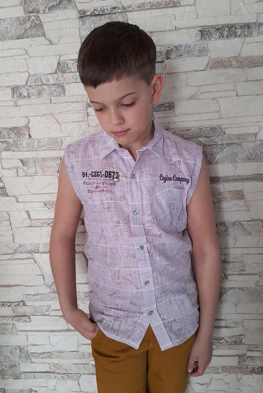 Рубашка летняя для мальчиков Без рукавов - КАЧЕСТВЕННАЯ ТУРЕЦКАЯ  ПОДРОСТКОВАЯ И ДЕТСКАЯ ОДЕЖДА в Хмельницком