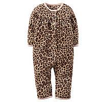 Флисовый человечек Carters Леопардовый, Размер 24м, Размер 24м