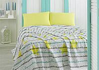 Летнее постельное белье Marie Claire Etoiles желтое евро размера