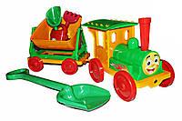 Поезд-конструктор с песочным набором №1 013222 Фламинго-Тойс салатовый