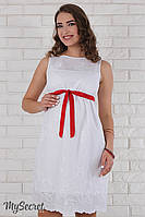 Очень нежный сарафан для беременных Infiniti, белый, фото 1