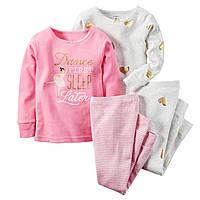 Комплект детских пижам для девочки Carters Балерина , Размер 18м, Размер 24м