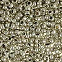 Чешский бисер Preciosa 18542-574 металлизированный, цвет стальной, 5г