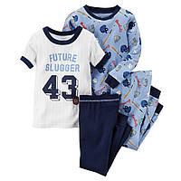 Комплект детских пижам для мальчика Carters Бейсбол , Размер 5T, Размер 5T