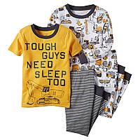 Комплект детских пижам для мальчика Carters Бульдозер  , Размер 3T, Размер 3T