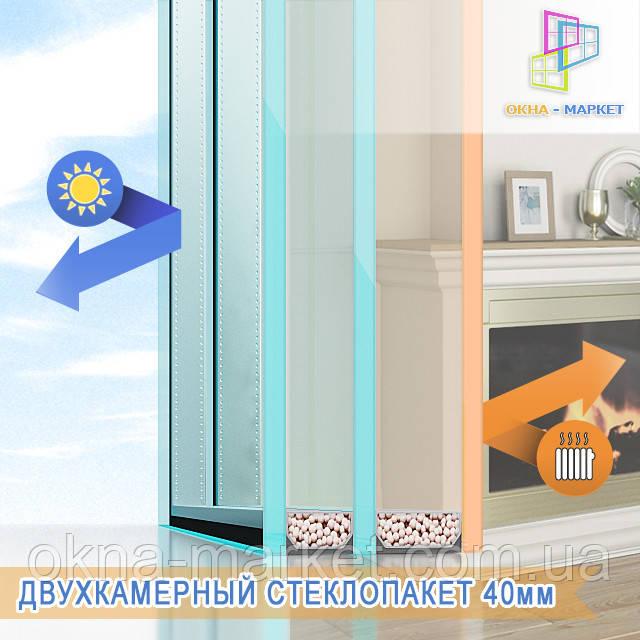 Энергосберегающий двухкамерный стеклопакет в фирме