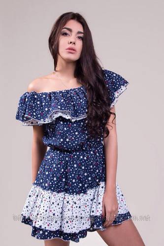 Женское стильное платье каттон в трёх расцветках