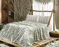 Летнее постельное белье Marie Claire Herbier зеленое евро размера