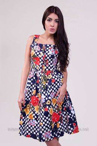 Женское стильное платье коттон